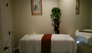 Couples massage room at Yuki Massage in Vinings