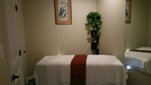 Couples massage room at Yuki Massage in Vinings