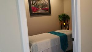 Clean, licensed massage room